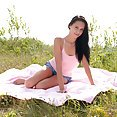 Lovely and Leggy Teen In Jean Shorts - image