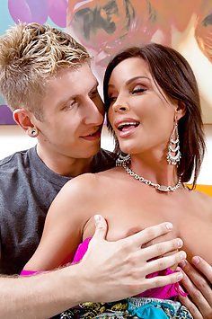 Young Guy Gets MILF Tits To Play