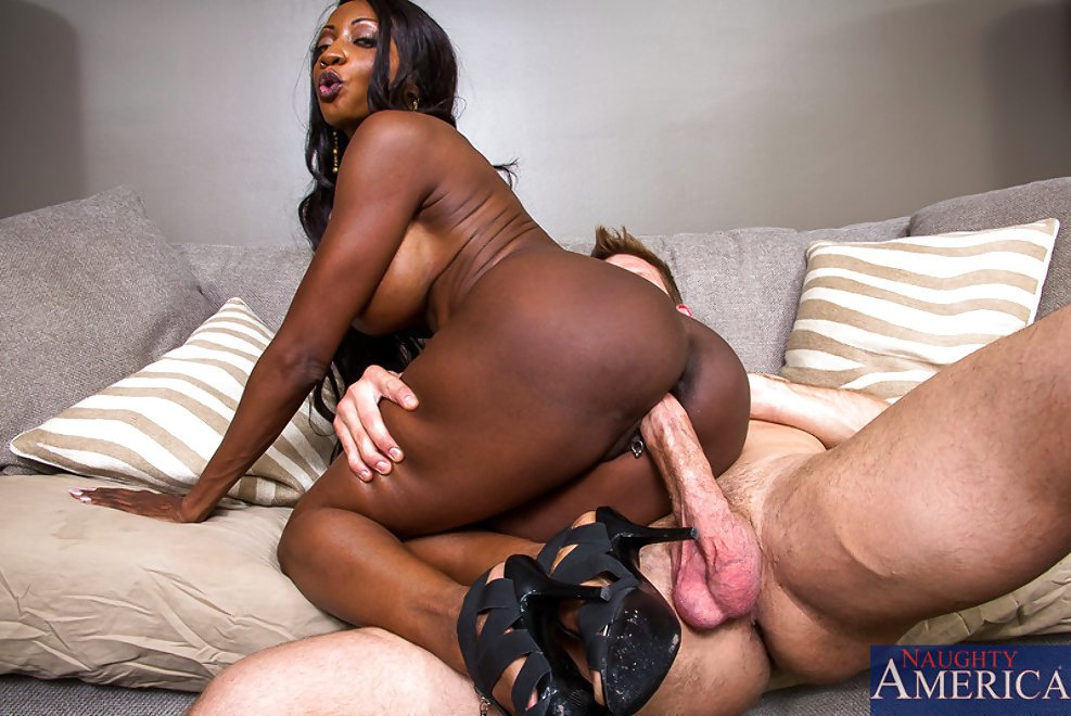 Ebony Girl White Cock Creampie