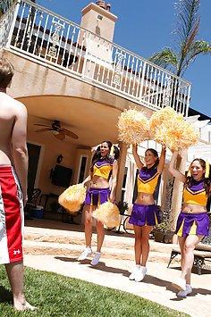 Cheerleader Gets Fucked Outdoors