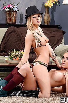 Alexis Monroe and Jessa Rhodes Huge Cock Threesome