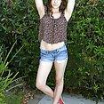 Kasey Warner Fingers Herself Outdoors - image
