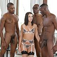 Adriana Chechik And Three Big Black Cocks - image