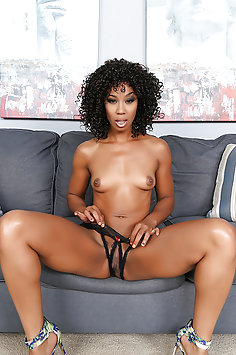 Ebony Stunner Takes a Big Cock