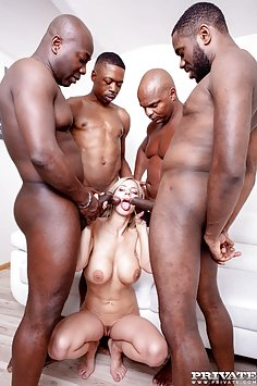 Nathaly Cherie loves interracial gangbangs